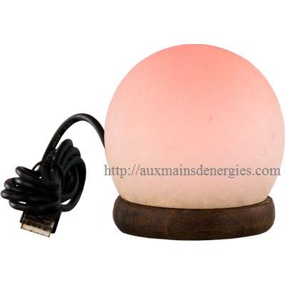 LAMPE DE SEL SPHÈRES A DEL CORDON ELECTRIQUE-USB