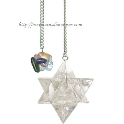 PENDULE ? MERKABA QUARTZ CLAIR  Item # 61061