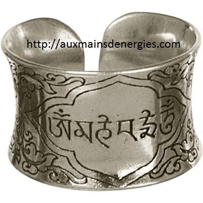 BAGUE-OM MANI PADME H.METAL AJUSTABLE