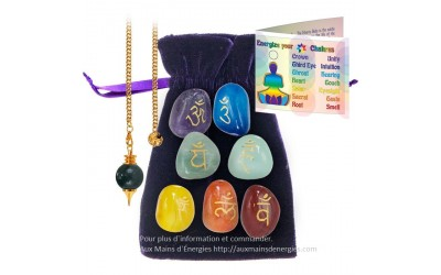CHAKRAS ENERGIZING KIT-STONES BAG