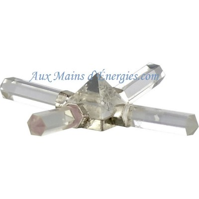 PYRAMIDE AMPLIFICATEUR A 4-ELEMENT CLAIR QUARTZ