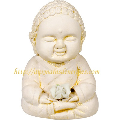 "BOUDDHA-GYPSE 2.75"" ? LOTUS BLANC  Item # 12"