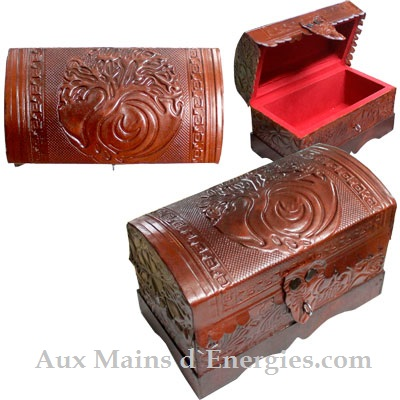 LEATHER BOX (LINED)-TREE