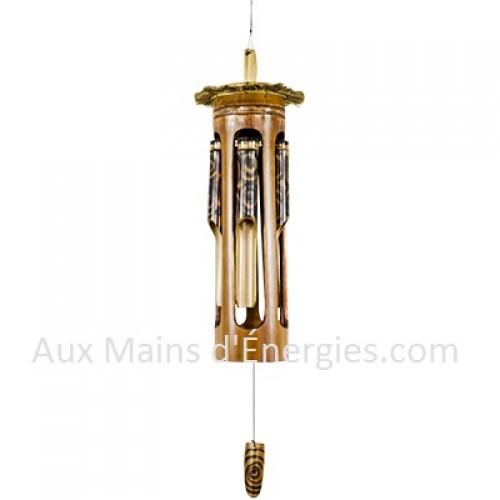 carillon a vent en bambou tiki style bois brule. Black Bedroom Furniture Sets. Home Design Ideas