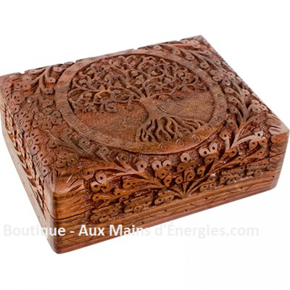 profiter du prix le plus bas plus récent large sélection Élégant coffre à bijoux en bois - sculpter à la main par un ...