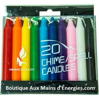 MINI CHANDELLES RITUEL – ASSORTIES (ENS. DE 20)